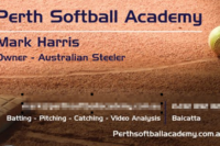 Perth Softball Academy Business Card